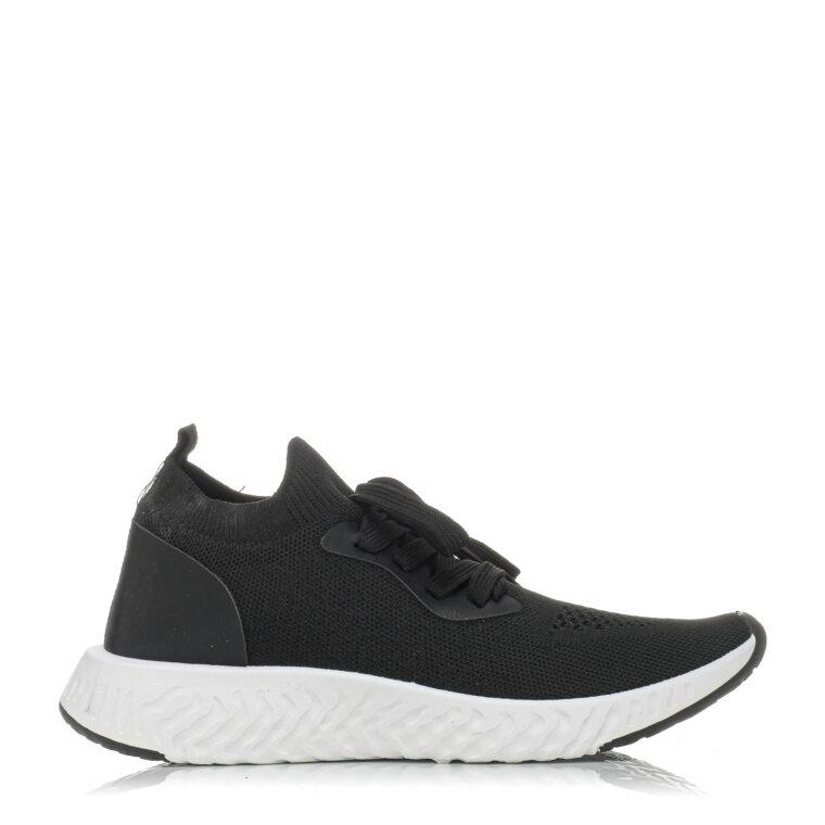 Μαύρο αθλητικό παπούτσι από ύφασμα