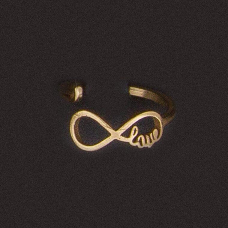 Δαχτυλίδι με σχέδιο το σήμα του άπειρου χρυσό