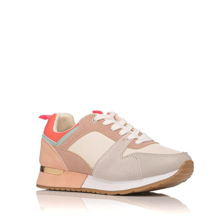Πολύχρωμο sneaker με άσπρα κορδόνια