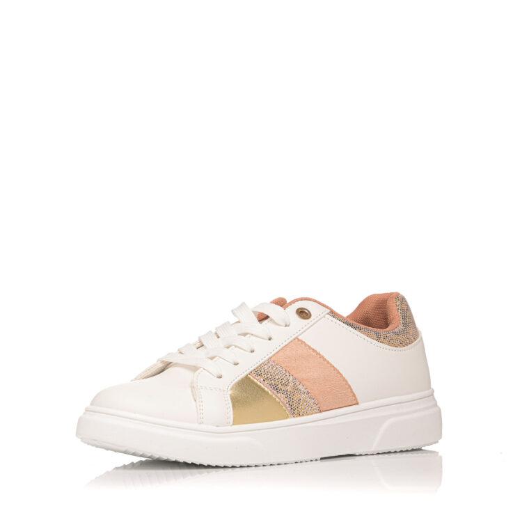 Άσπρο sneaker με ροζ χρυσές λεπτομέρειες