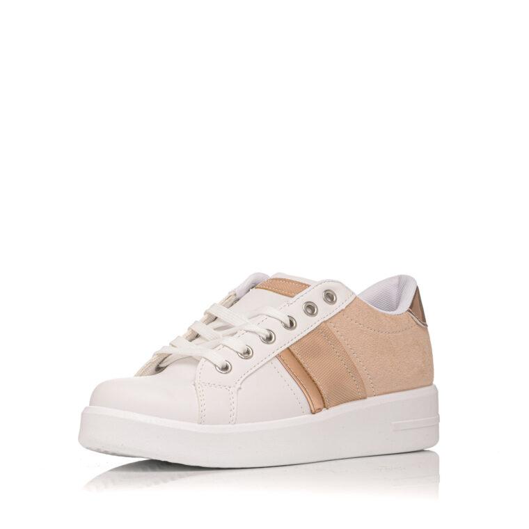Άσπρο sneaker με ροζ μπρονζέ λεπτομέρειες