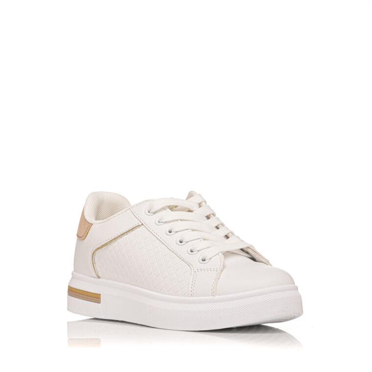 Άσπρο sneaker με ροζ λεπτομέρειες