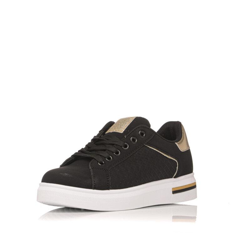Μαύρο sneaker με χρυσές λεπτομέρειες