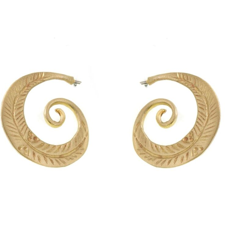 Σκουλαρίκια με σχέδιο χρυσά σαλιγκαράκια