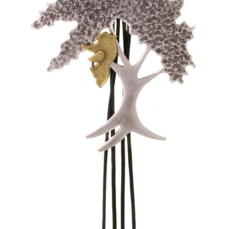 Κολιέ μακρύ με σχέδιο δέντρο