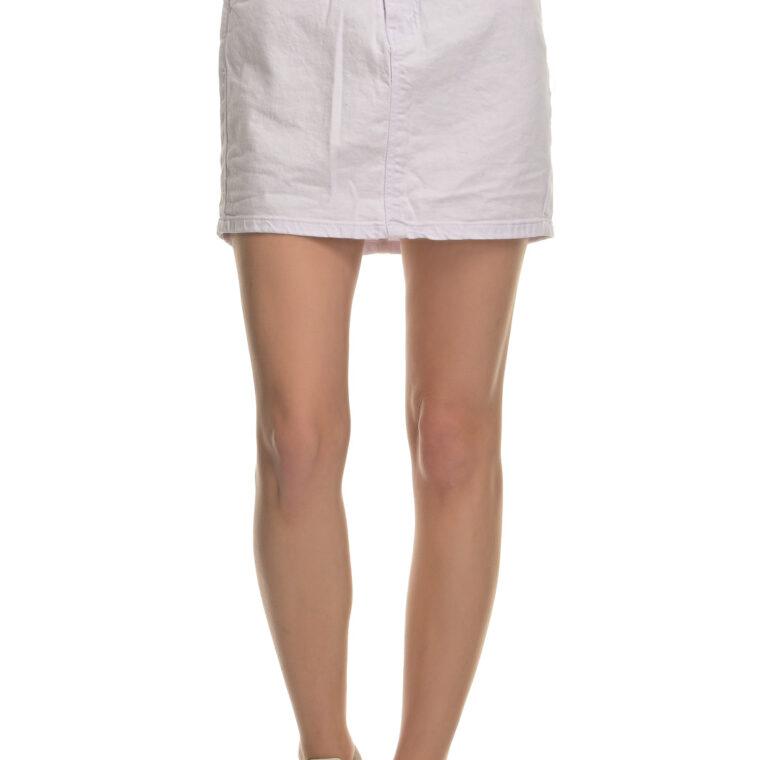 Άσπρη ψηλόμεση φούστα ελαστική