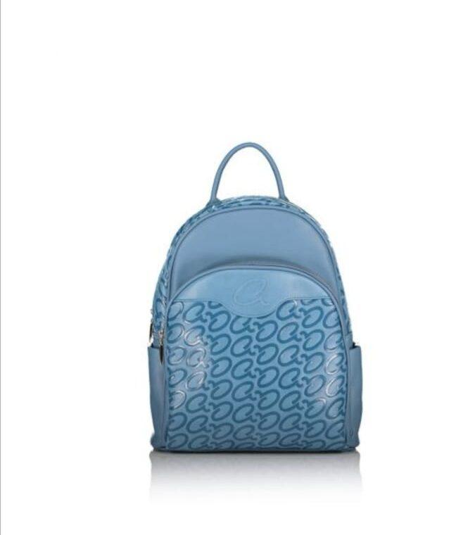 Μπλε σακίδιο με λογότυπο axel accesories