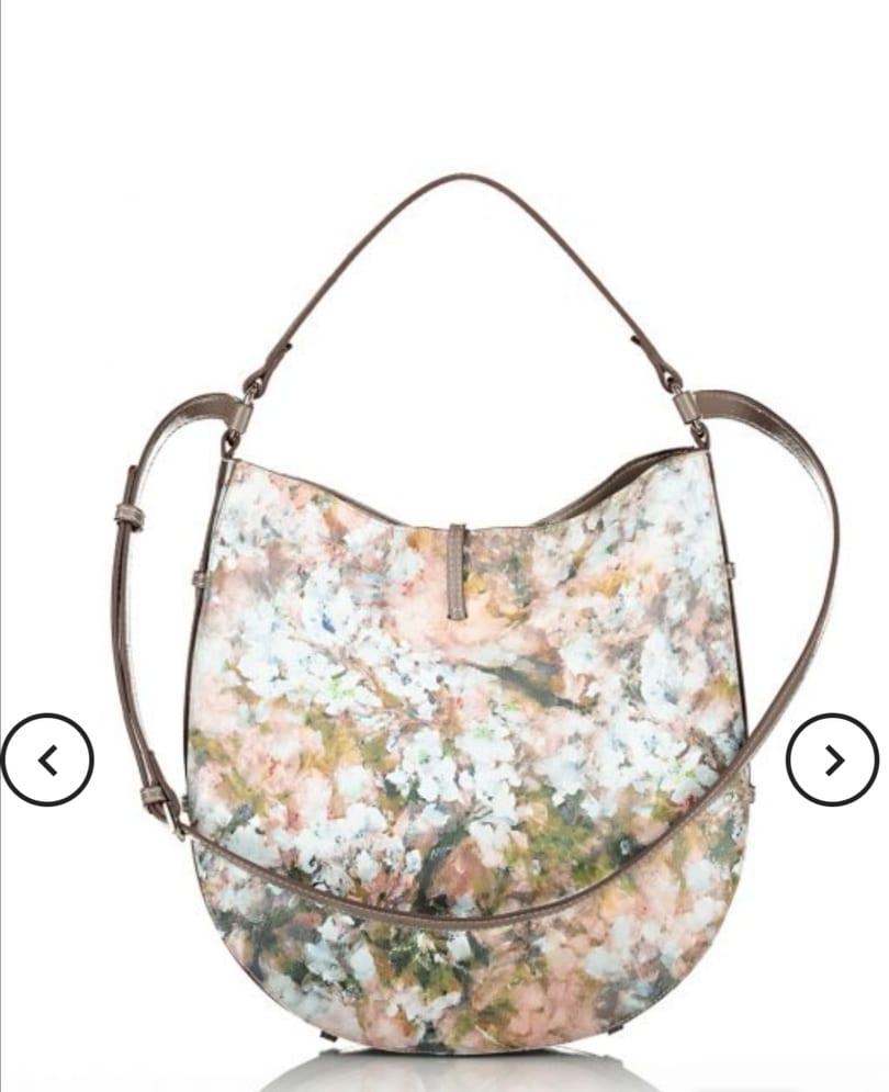 Πολύχρωμη τσάντα χειρός/ώμου με μοτίβο λουλουδιών axel accesories