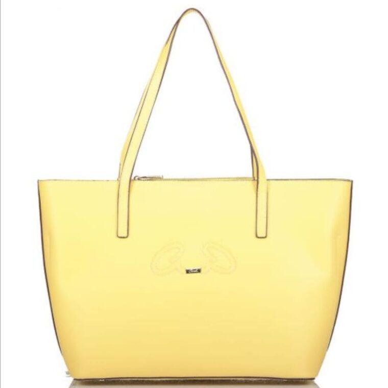Κίτρινη τσάντα χειρός/ώμου από ανακυκλώμενο υλικό axel accesories