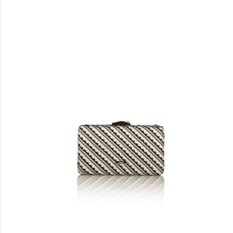 Ασπρόμαυρο τσαντάκι clutch axel accesories
