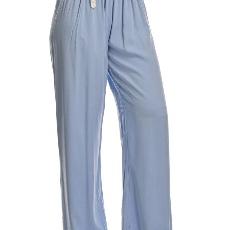 Παντελόνα βαμβακερή με ιδιαίτερη ζώνη γαλάζιο