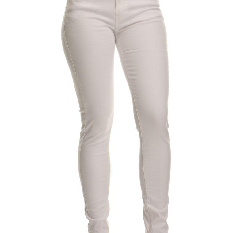 Άσπρο ελαστικό παντελόνι μεγ.μεγέθη