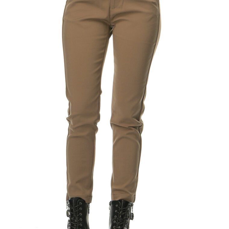 Παντελόνι υφασμάτινο σε χρώμα πούρο