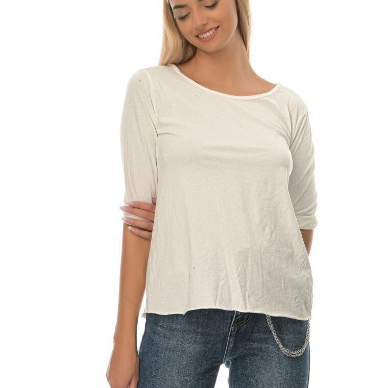 Μπλούζα λεπτή βαμβακερή άσπρη