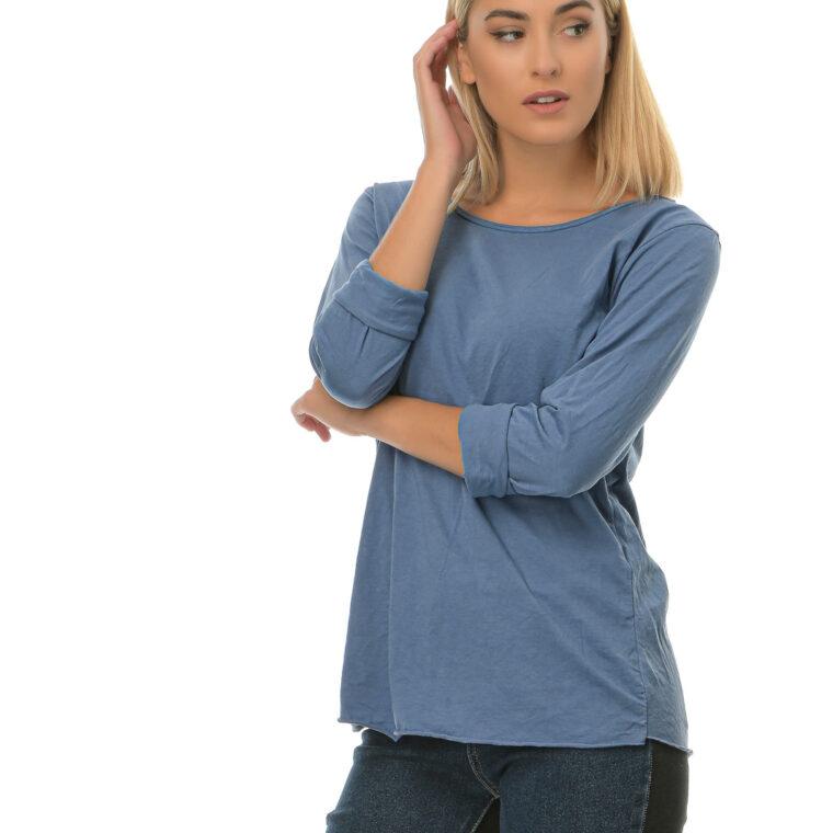 Μπλούζα λεπτή βαμβακερή μπλε